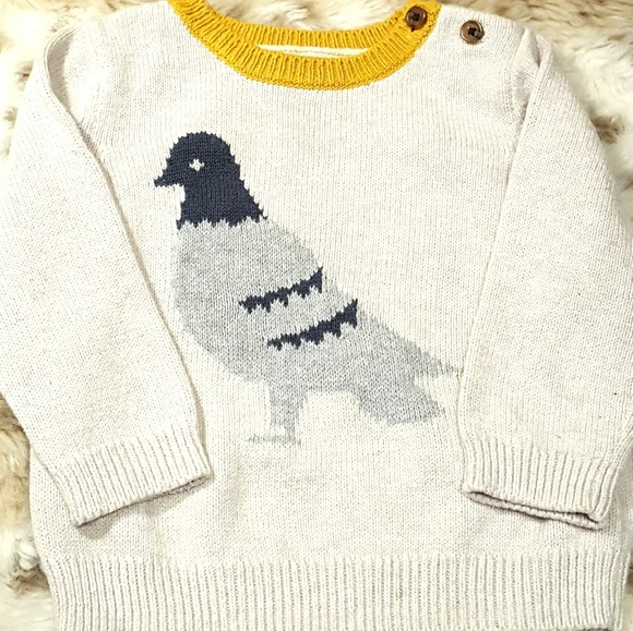 """Toddler Boy Size 12-18 Months NWT Yellow /""""Like/"""" Intarsia Sweater Top GAP Baby"""